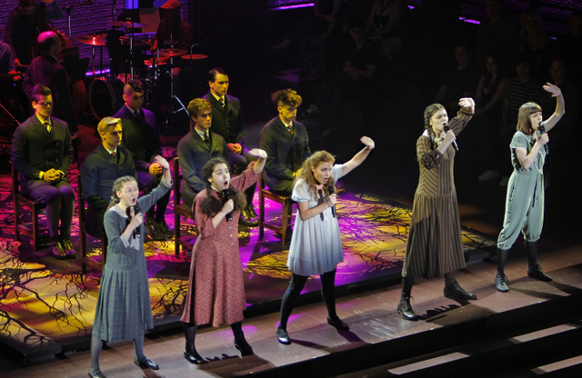 "Cast of the national tour of ""Spring Awakening"""