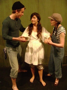 "Brett Lee, Amanda Bobbitt and Marissa Cowsill in ""Judith Lynn: A Story of the Sea"""