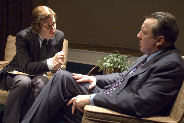 "the watergate scandal in frostnixon an interview series by david frost British broadcasting legend david frost has died at the age of 74 after a heart  attack  long-form interviews, particularly for a series of historic interviews he   rivals at washington's watergate building and the later cover-up the interview  was later dramatized in the 2008 film ""frost/nixon,"" directed by the."