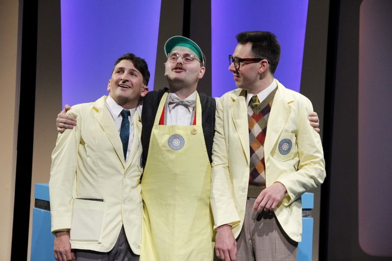 Tyler-Ravelson-as-J.-Pierrepont-Finch-Matthias-Austin-as-Twimble-and-John-Keating-as-Bud-Frump-in-Porchlight's-HOW-TO-SUCCEED-IN-BUSINESS-WITHOUT-REALLY-TRYING.
